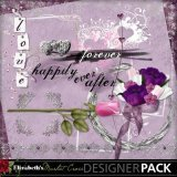 Purple wedding scrapbooking kit called