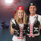 couple dressed in pirate attire