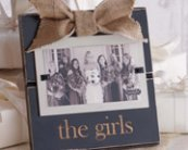 Distressed wood picture frame with