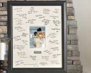 Black signature mat frame for a bridal shower or wedding gift.