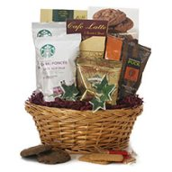 Gourmet coffee gift basket