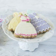 personalized dress cookies for a bridal shower