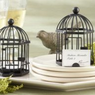 This birdcage place card and tea light holder is the perfect accent for your bridal shower tableware.