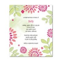 Bridal shower luncheon invitation...pink and green