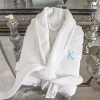 Spa robe to be given as bride and bridesmaids gifts.