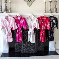 Personalized print satin women's  robes