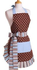 Blue and Chocolate Apron