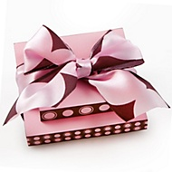 pink and brown notepad with bow bridal shower favor