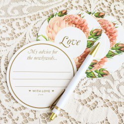 advice cards for newlyweds to fill in at bridal shower