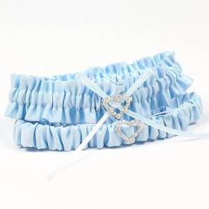 Blue garter set for the wedding day