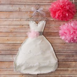 Bridal shower dress door hanger decoration.
