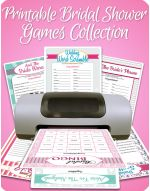 Collection of printable games for a bridal shower