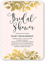 Bridal shower invitation...gold roses