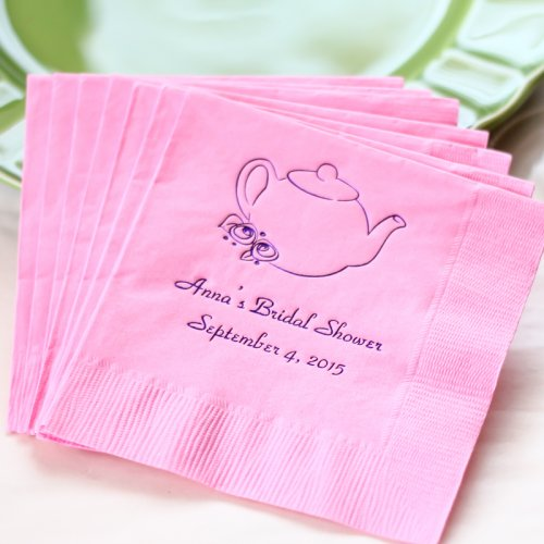 personalized bridal shower napkin
