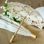 Lace parasol for a bridal shower umbrella
