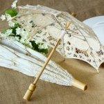 Lace parasol for a bridal shower umbrella