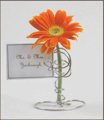 Bud Vase/ Place Card Holder Bridal Shower Favor