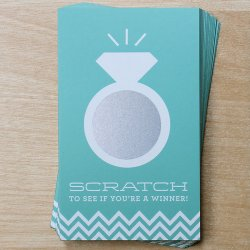 bridal shower scracth off game with ring design