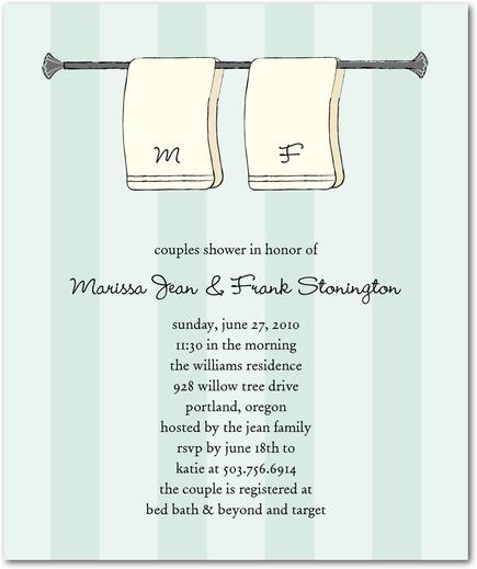 Sample Wording For Bridal Shower Invitations