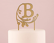 Classic and elegant, this monogram cake topper helps personalize your bridal shower.