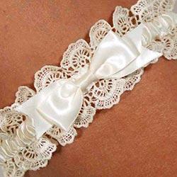 Blue garter set for the wedding day