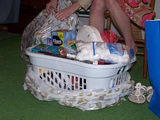 Cheap Bridal Shower Gift Basket Ideas : For very young couples, this is a great idea for a gift basket. The ...