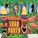 Scene background for a luau party.