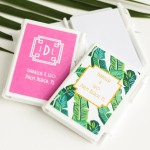 Bridal shower notebook favor with matching pen and your choice of theme and wording.