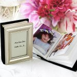 Mini photo album which is also a place card holder.