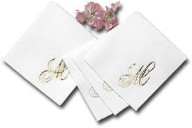 Personalized napkins for a bridal shower