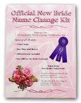 new bride name change kit