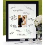 Black wood signature mat frame for a bridal shower or wedding gift.