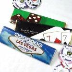 Peronalized casino theme chocolate bar