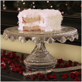 crystal cake plate to display your bridal shower dessert