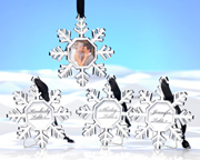 Used as a place card, magnet, or ornament, these snowflakes are a unique party favor.