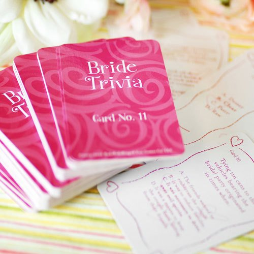 bridal shower trivia game includes 99 cards of questions and answers