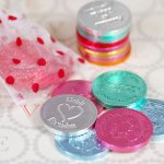 choclate coins for bridal shower favors