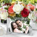 Personalized glass phot vase