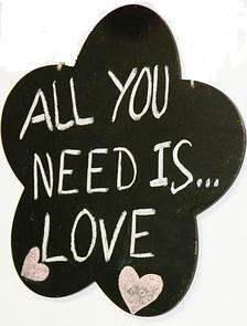 Saying on a bridal shower cake...all you need is love.