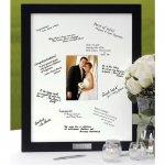 Black wood signature mat frame for a bridal shower or wedding gift.