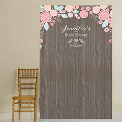 Add to your bridal shower fun with this photo booth backdrop.