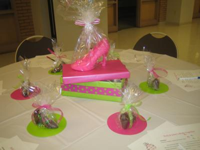 Perfect Pair, Perfect Fit <br>Shoe Theme Bridal Shower Table Decorations